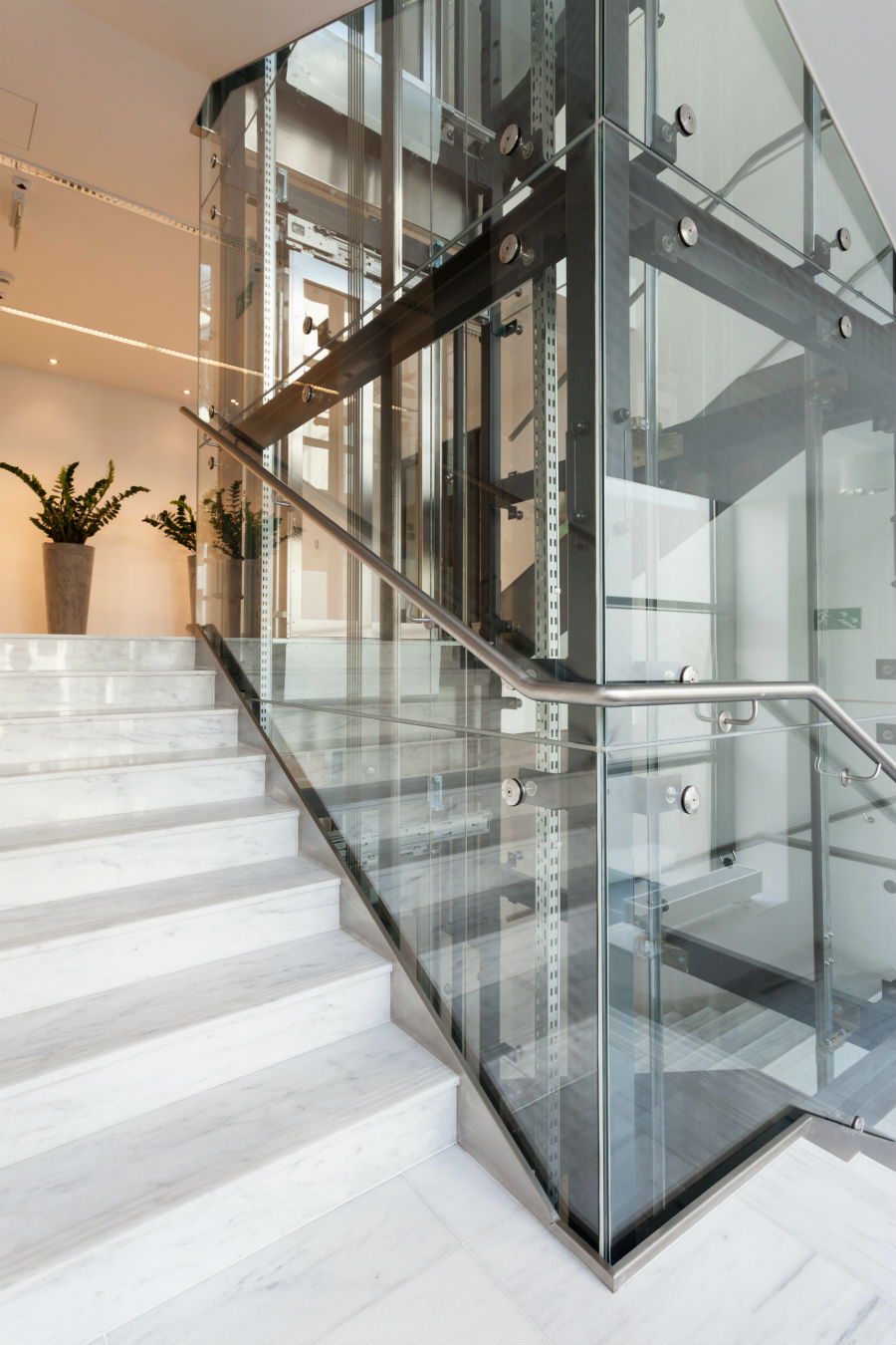 commercial glass railing